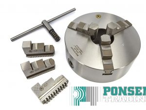 Bison 3-klauwplaat 80mm / 630mm type 3204 – DIN 6350 – Gietijzer