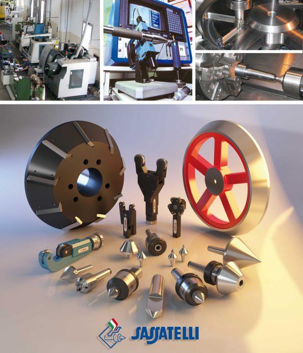 Sassatelli meedraaiende centers voor opzetstukken type GT-MTC MK6