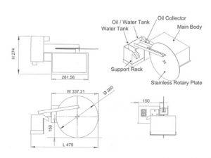 Olie-skimmer   VOS-850